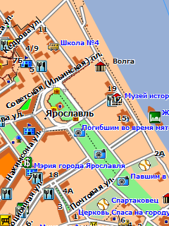 Растровые Карта Ярославской Области