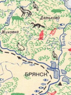 Зоогеографическая карта брянской