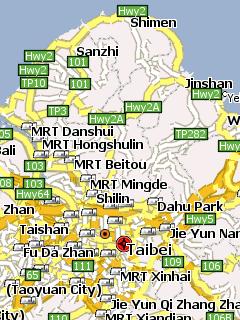 Сконвертированная из данных OpenStreetMap, для программы GPS навигации …