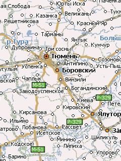 Карта Югорска Навител