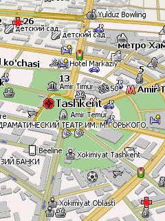 Узбекистан – карта для Навител (Navitel) скачать бесплатно